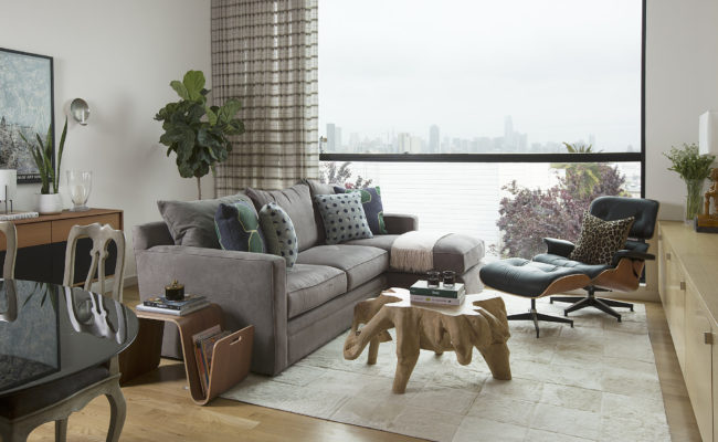 Erin King Interiors: MODERN SAN FRANCISCO HOME – Custom Living Room Design